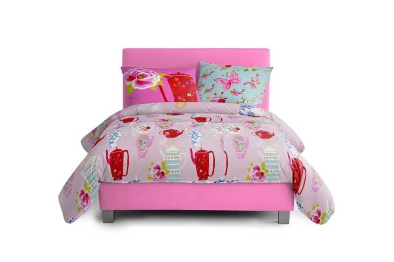 Kinderboxspring Pink